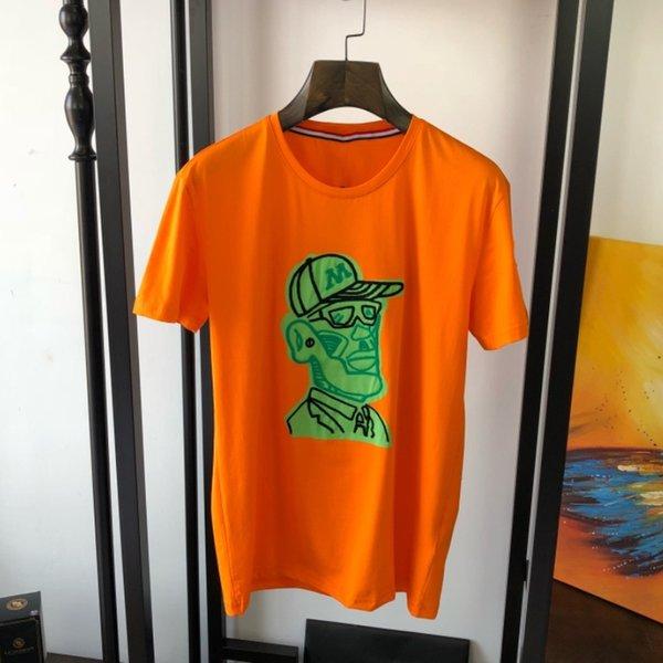 Magliette da uomo in cotone con scollo a O, pullover da uomo estivo, manica corta, magliette, magliette, magliette da uomo, hip-hop, moda, stampa lettera, top casual