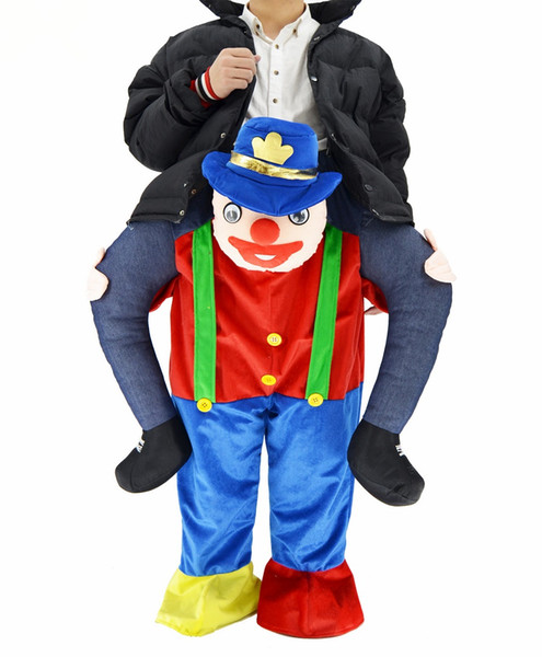 Mascot Costume Took Me Riding A Clown Christmas Wore Strange Clothes Halloween