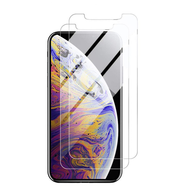 best selling Tempered Glass Screen Protector for iPhone 11 Pro X XS MAX XR 8 7 6S Plus 5S SE 10 in 1 Paper Package