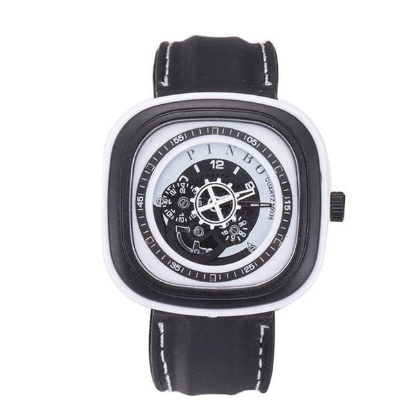 Venta caliente Relojes Cuadrados Relojes de Lujo Para Hombre Reloj Deportivo Masculino Cuarzo Correa de Silicona Relojes de pulsera Reloj Relogio masculino