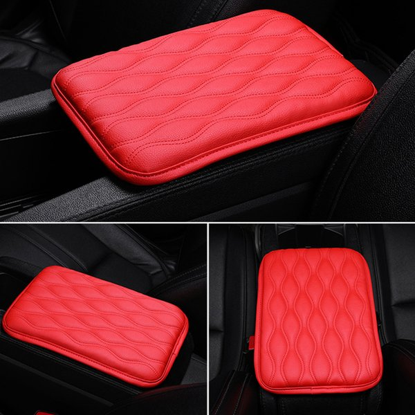 Waterproof Mat Soft Car Armrest Pad Covers Wear Resistant Center Console Anti Scratch PU Leather Cushion Protection Universal