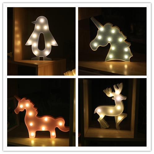 New Cartoon elk Christmas tree Shape Table lamp Changing Battery Desk Lamp 3D Lamp Novelty Night Light Kid Christmas Gift Toys