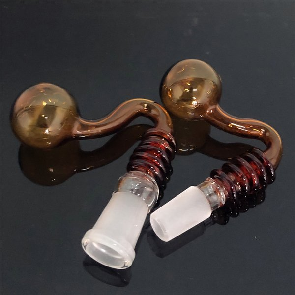 Wholesale Glass Burner Pot for Bong Curved Nail Glass Bowls Roast Pot Bowls Tobacco Oil Burner Glass Pipes