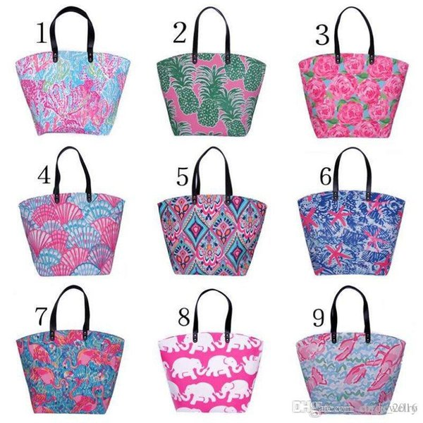 2018 newest Canvas Bag Elephants starfish pineapple flamingos rose Tote Sports Bags Casual Cotton Canvas Tote Bag
