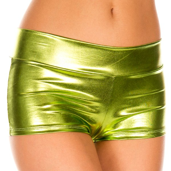 Candy Color Faux Leather Shiny Pole Dance Booty Women Hot Short Shorts Mini Short Sexy