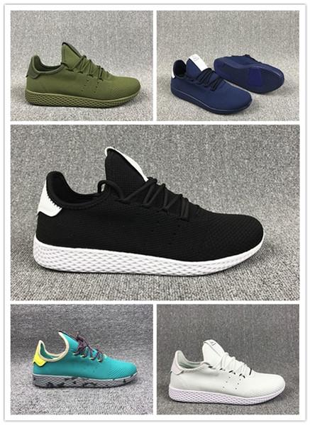 2019 Tennis Hu Mens Running Shoes Pharrell Williams X Stan Smith Women Runner Sports Shoe White Green Trainers Designer Sneakers AIR02 Running Shoes