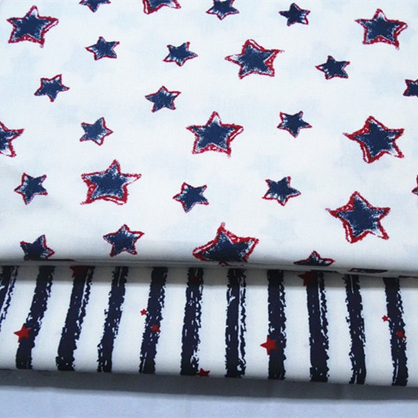 Star and stripe print 100%cotton fabric for baby cloth 10yards/lot tomo1829