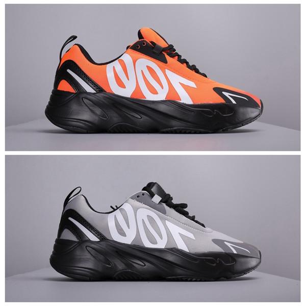 Kanye West 700 VX V3 Wave Runner Orange 3M мужские кроссовки для мужчин 700s спортивные кроссовки черные мужские дизайнерские туфли размер 11