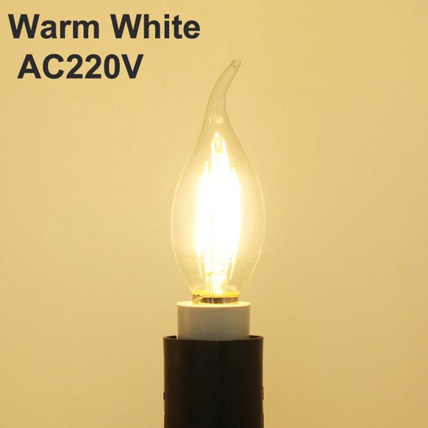 الدافئة الأبيض NO يعتم AC220V