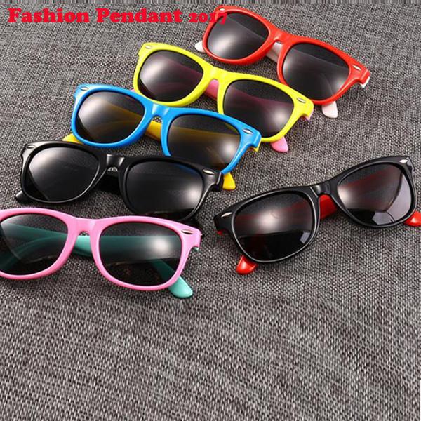 2019 Kids Sunglasses Girls Children Glasses Boys UV400 Lens Baby Sun glasses Cute Eyewear Shades Goggles dhl shipping