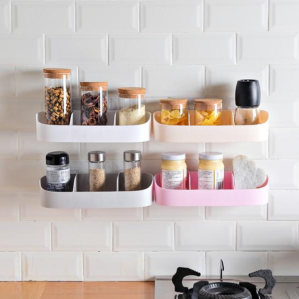 Shower Gel Adhesive Shampoo Holder Bathroom Shelf Organizer Storage Rack