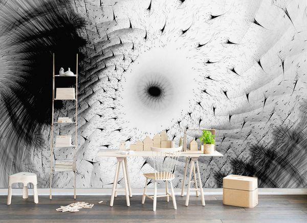 [Auto-adesivo] 3D simples Doodle Wall Paper WG0277 mural Impressão da parede do decalque Murais Muzi