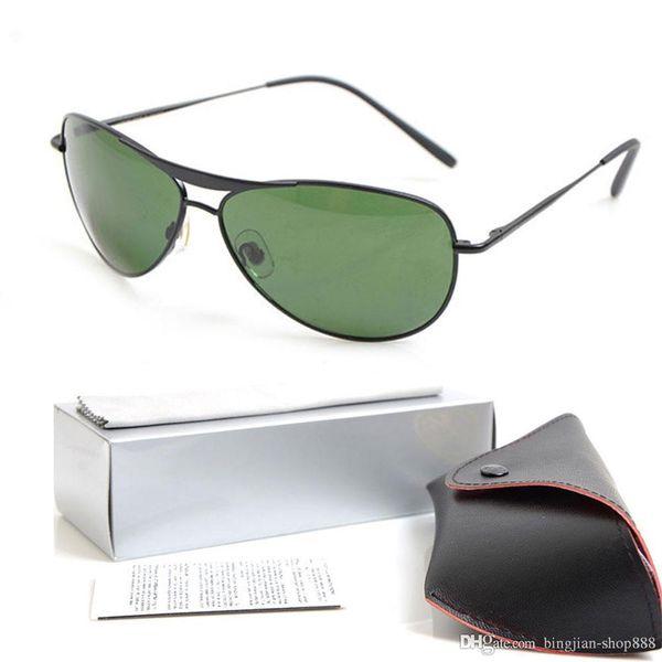 10PCS Brand Designer Sunglasses Glass lens UV400 protection sun glasses Man sunglasses 8015 Womans glasses Classic Glasses with cases boxs