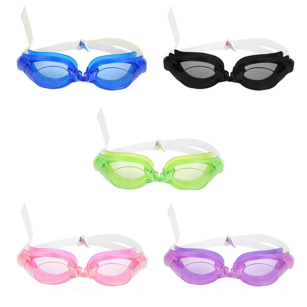 3Pcs Adjustable Swimming Goggles Anti-Fog Waterproof Pool Swim Eyewear Adult Swimming Glasses with Nose Clip + Earplug