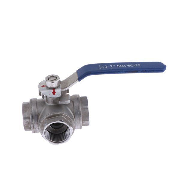 "top popular G1 2"" 3-Way Ball Valve, Stainless Steel 304 Female Type With Vinyl Handle 2021"