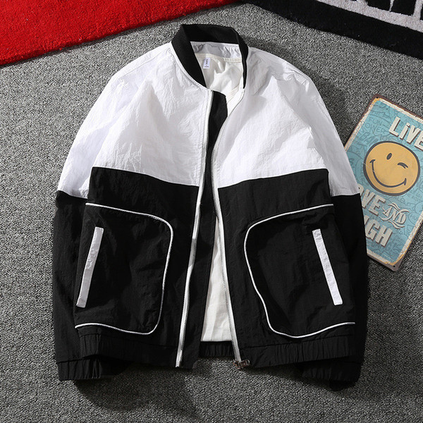 New 2019 Fashion splice Jacket Men Brand New Spring and Summer Slim Fit Mens Casual Varsity Jackets and Coats Plus Size 3XL SH190916