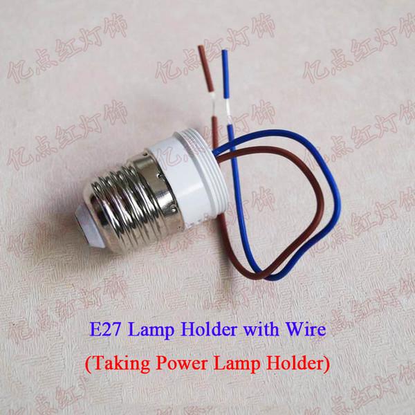 E27 Lead Power Lamp Holder