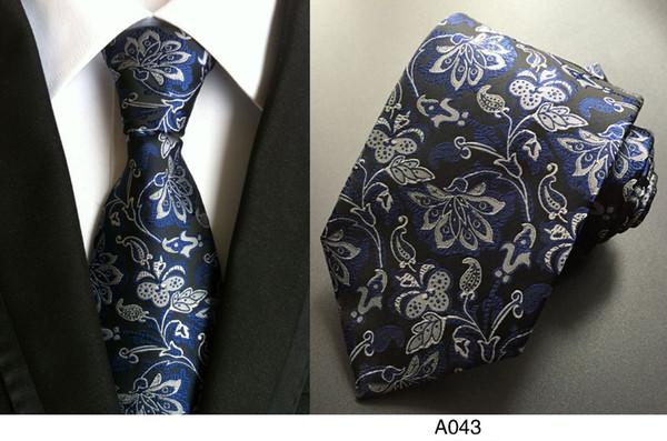 Nouveaux accessoires de mode cravate marque mode classique hommes cravates en soie pour les hommes d'affaires cravate de haute qualité cravate pour hommes 17 style A10-43