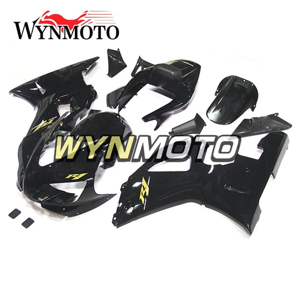 Gloss Black Gold Decals OEM Injection Motorcycle Bodywork ABS Injection Fairing For Yamaha YZF1000 R1 1998 1999 Complete Bike Body Frames