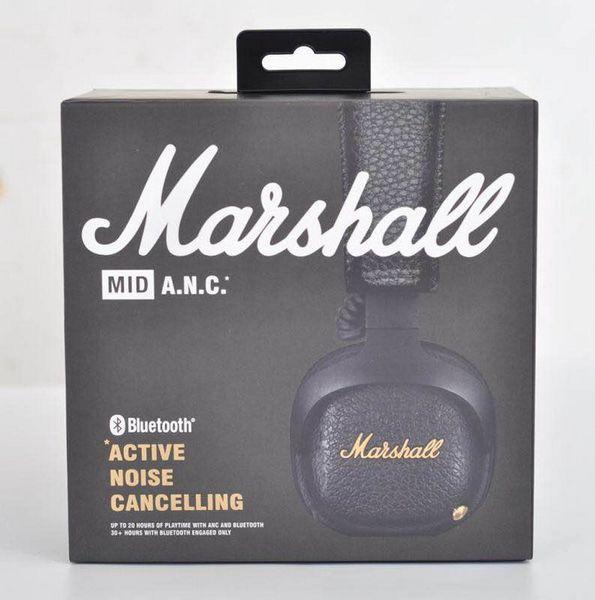 Marshall Mid ANC Auriculares inalámbricos inalámbricos con cancelación de ruido en la oreja, negro