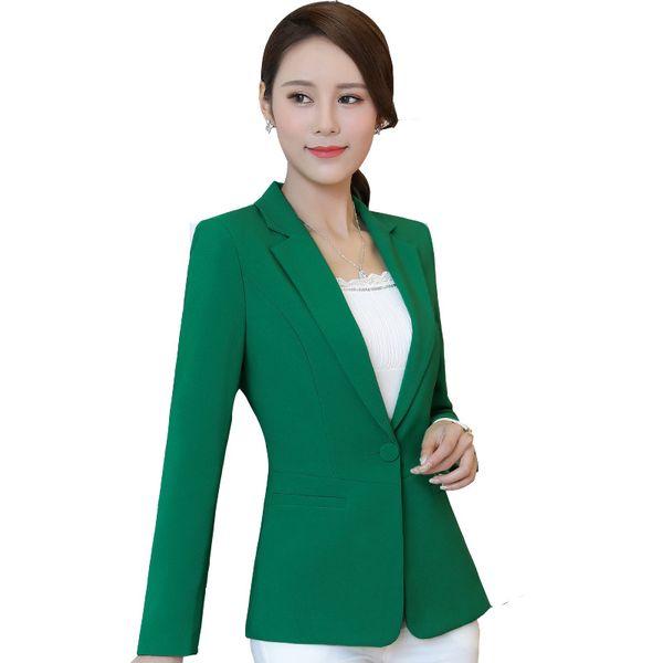 Cappotto Blazer donne Nuovo Autunno a maniche lunghe Donna vestito di affari coreano Edition Body Slim Work Clothes