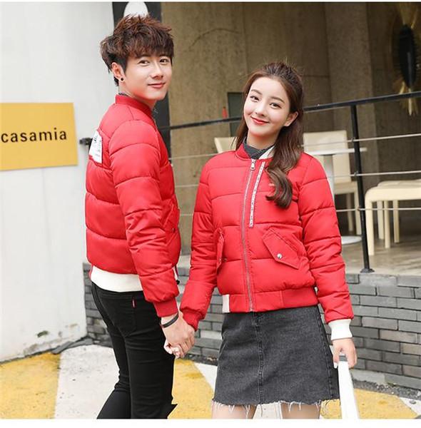 Aynı stil pamuk dolgulu kısa ceket 95999 ile kadın ve erkek rüzgar geçirmez AD Spor gündelik pamuk dolgulu reklam ceket sıcak ceket