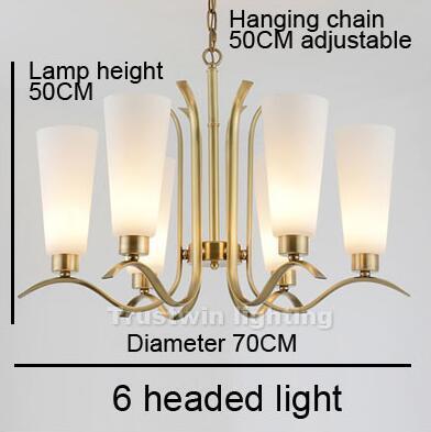6 cabeza luz