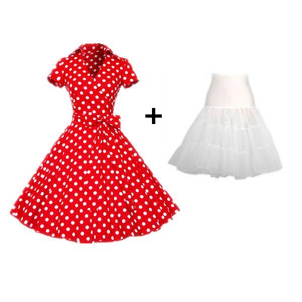 vestido rojo y falda