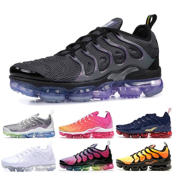 Nike Air Vapormax Plus TN Plus Vente en gros au détail Hommes Femmes Chaussures de course Megatron Laser Fuchsia Psychic Rose Volt Chaussures Baskets De Sport