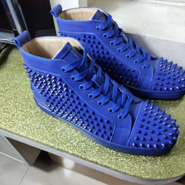 2019 Новый дизайнер шипованных шипов обувь для квартиры Мужская женская обувь Party Lovers Натуральная кожа кроссовки 35-46 Оптовая Бесплатная доставка