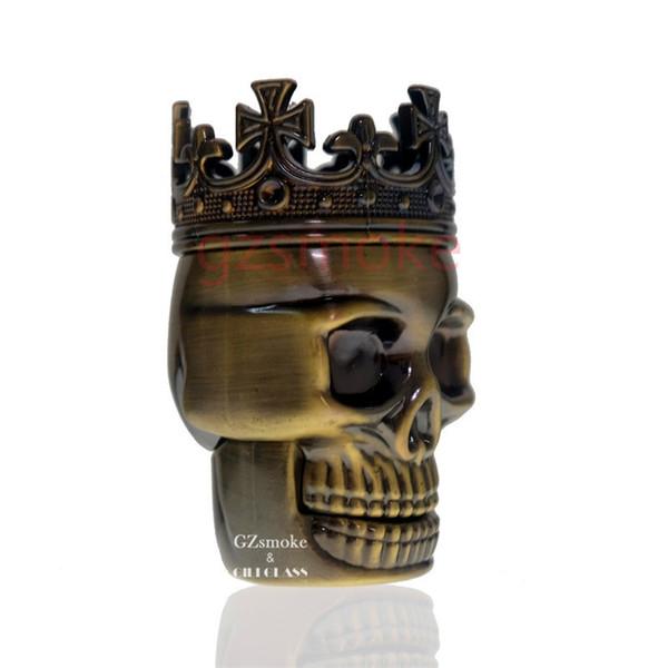 Crâne tabac Moulin d'herbe à sec 3 meuleuses couches métalliques en alliage sharpstone accessoires fumeurs colorés de haute qualité Kit de cigarette électronique