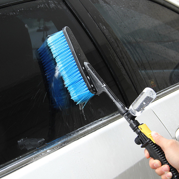 Spray Car Wash >> New Car Wash Brush Hose Adapter Vehicle Truck Cleaning Water Spray Car Cleaning Brush Washing Care Sponges Parts Supplies For A Car Wash From