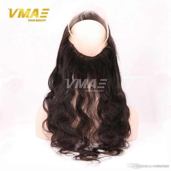 Cheveux vierges brésiliens 360 Full Body Front Lace Vague Body With Baby Hair Cheveux humains 360 Dentelle Bande Full Clôture Frontale
