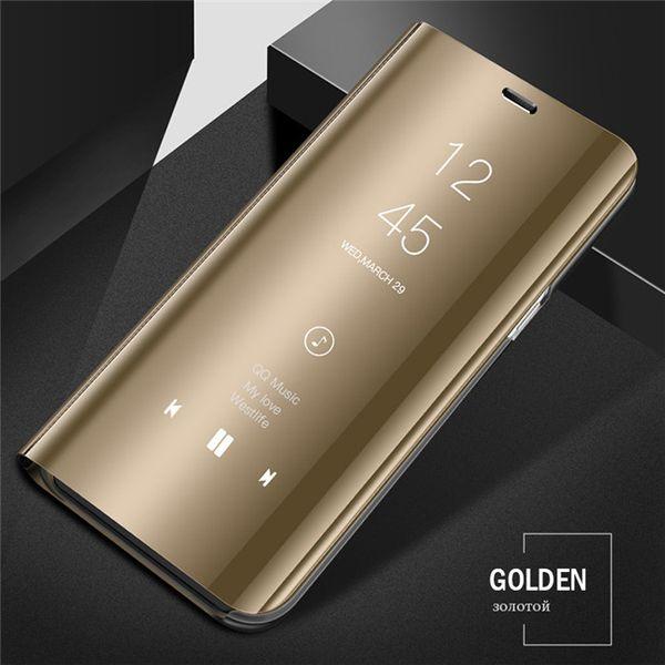 Cas de téléphone de Flip permanent pour Huawei P30 pro Mate 20 20X P Smart Nova3i 4 Full Mirror Leather Cases