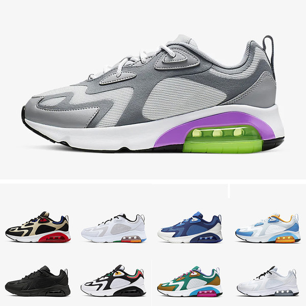 Compre Nike Air Max 200 Mystic Green Hombres 200s Zapatos Para Correr Cool Grey University Blue Red 1992 World Stage Track Field Sneakers Hombres