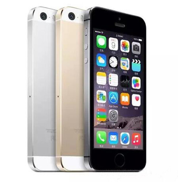 "100% Original Refurbished 5s with Fingerprint Unlocked Smartphone 4.0"" Dual Core 16GB 32GB 64GB ROM IOS 9 3G WIFI 8MP camera Sealed box"