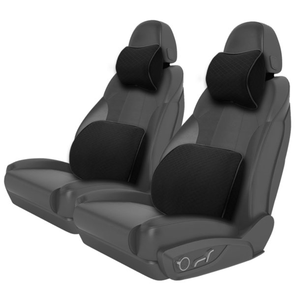 Car Back Massage Pillow Auto Seat Waist Cushion For Bmw Golf Volvo Universal Lumbar Support Pillows For Chairs Car Accessories C19041201