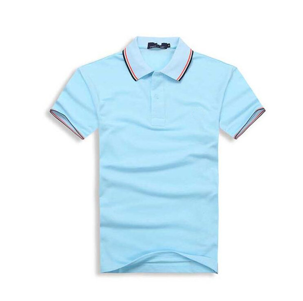 2019 New Brand Men Polo Shirt Mens Solid Casual Short sleeve Tops for Man Full High quality embroidery Cotton Plus Size887