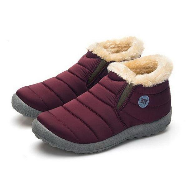 Âge et automne Épaississement imperméable Bottes en coton Cachemire Tenir au chaud Bottes courtes antidérapantes