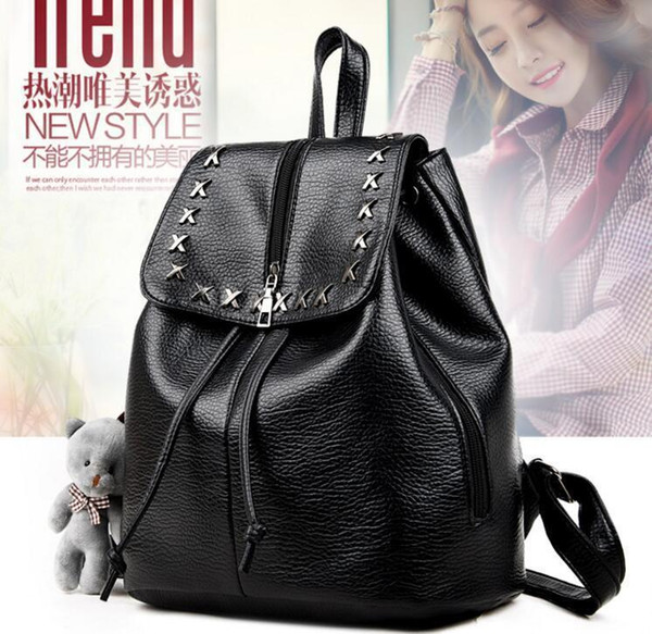 Lucky2019 Shoulders Ma'am Leisure Time Woman Package Soft Leather Junior Middle School Student Will Capacity Backpack Go Out Travelling Bag