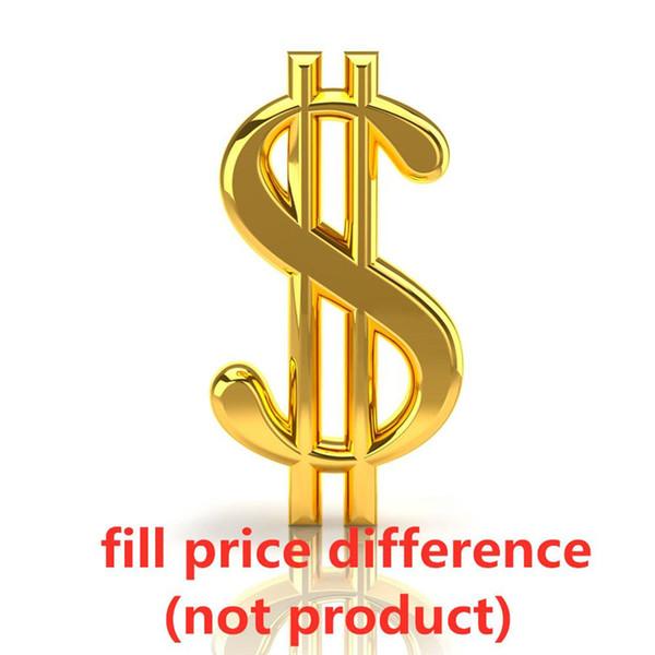 preencha a diferença de preço (não o produto)