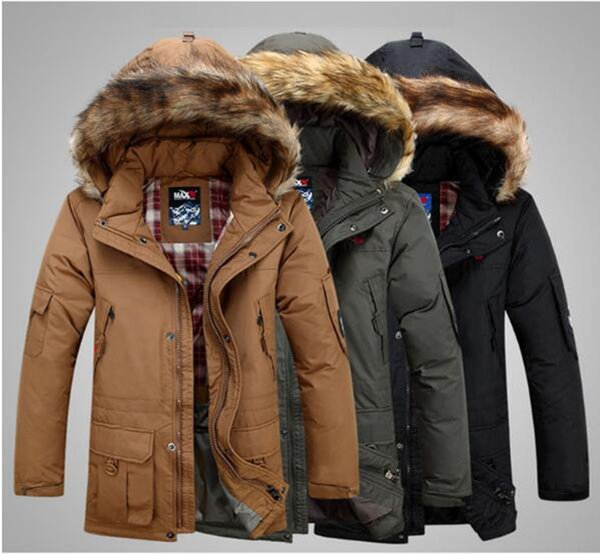 Men's spring and autumn han edition new European and American fashion trend boutique slim personality removable lined down jacket / S-4xl