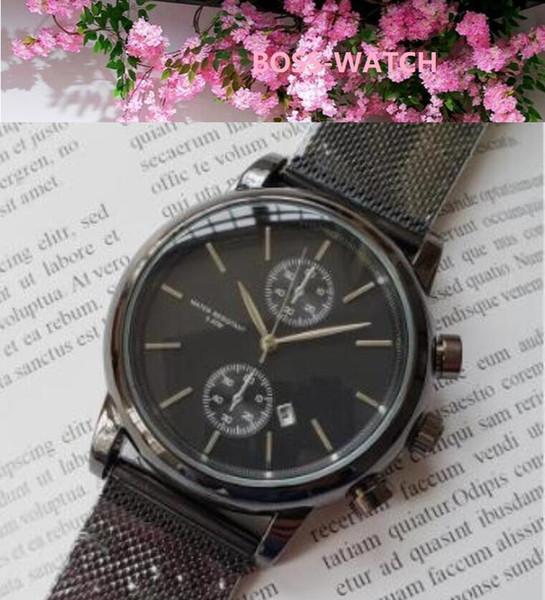 Célèbre style populaire Hommes Sport montre-bracelet Acier Mouvement Mesh Bracelet Quartz Temps cadeau Horloge Montre Relojes Hombre