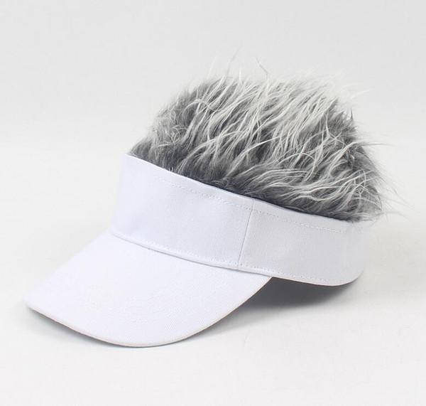 kids white hat silver wig