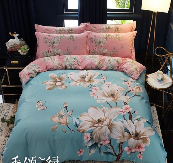 Flamingo And Pineapple Quilt-Duvet Cover Sets With Pillow Case,Polyester//Cotton