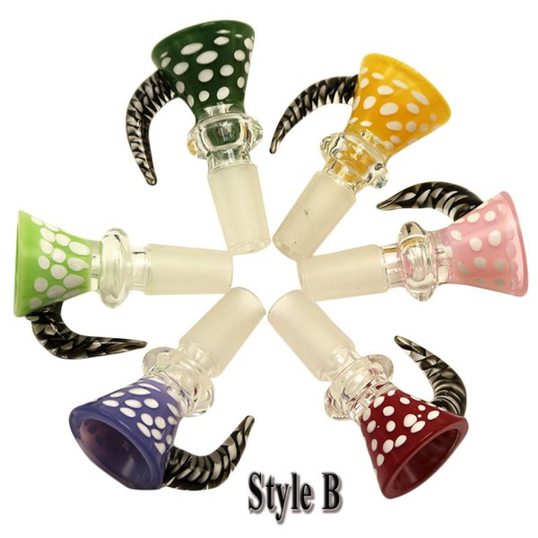 style B 14mm male with mixed color