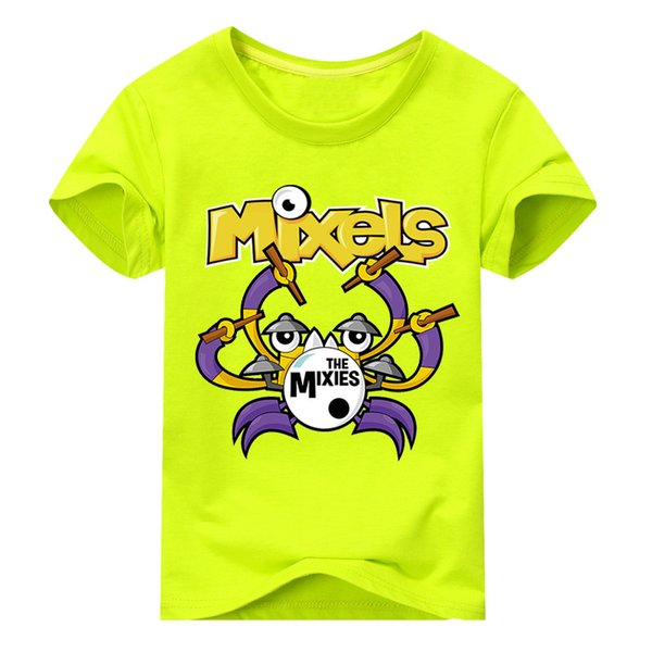 children summer short sleeve the mixels t-shirt for boys clothes 100% cotton boy girls t shirts print costume tshirt  tee