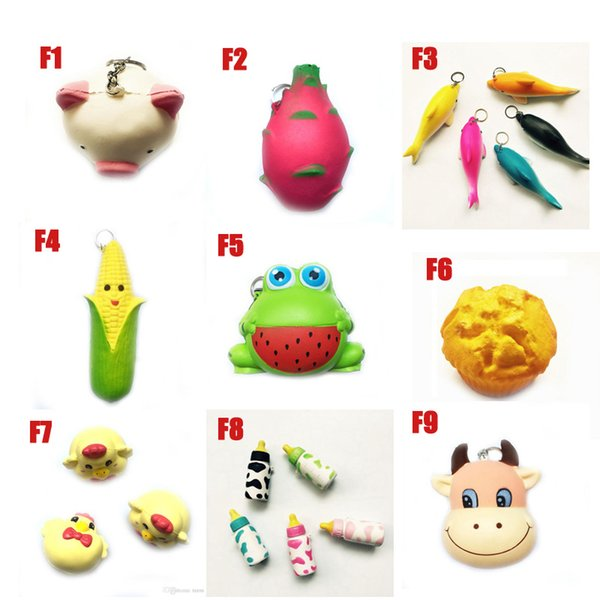 DHL Squishy Toy frog cake Animal chicken dolphin corn squishies Slow Rising 10cm 11cm 12cm 15cm Soft Squeeze Cute gift Stress children toys