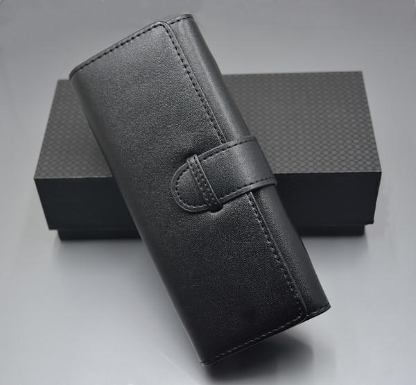 Prezzo all'ingrosso di lusso MB in pelle nera sacchetto della penna per il punto a sfera - penna a sfera - penna stilografica (senza scatola)