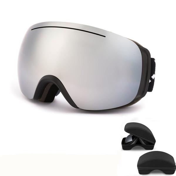Лыжные очки УФ-защита противотуманные лыжные очки Мужчины Женщины двойной объектив снег очки для взрослых катание на лыжах Сноуборд очки
